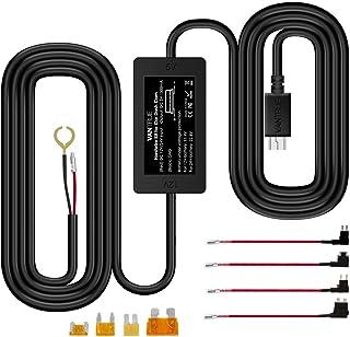 Vantrue N2 Pro, N2, T2, N1 Pro, X4, X3 Dash Cam 10ft Mini USB 12V 24V to 5V Dash Cam Hardwire Kit with Mini, ACS, ATO, Mic...