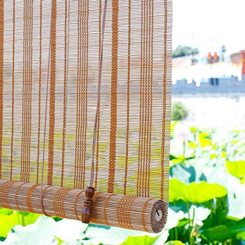 Estores Enrollables Persianas Enrollables de Pérgola para Patio Al Aire Libre, Persianas Enrollables de Bambú con Filtro de Luz de Estilo Japonés, Caída de 260cm/230cm/180cm/140cm/110cm