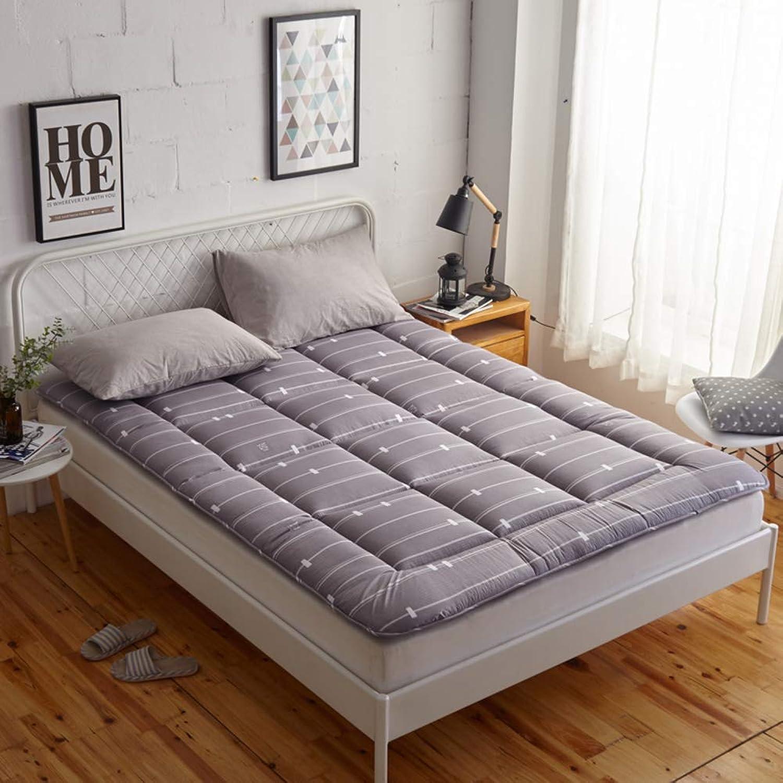 Tatami Mattress Topper, Foldable 2cm Thin Sleep Mattress Pad Predector Breathable Soft Non-Slip Floor Mat-A 90x200x2cm