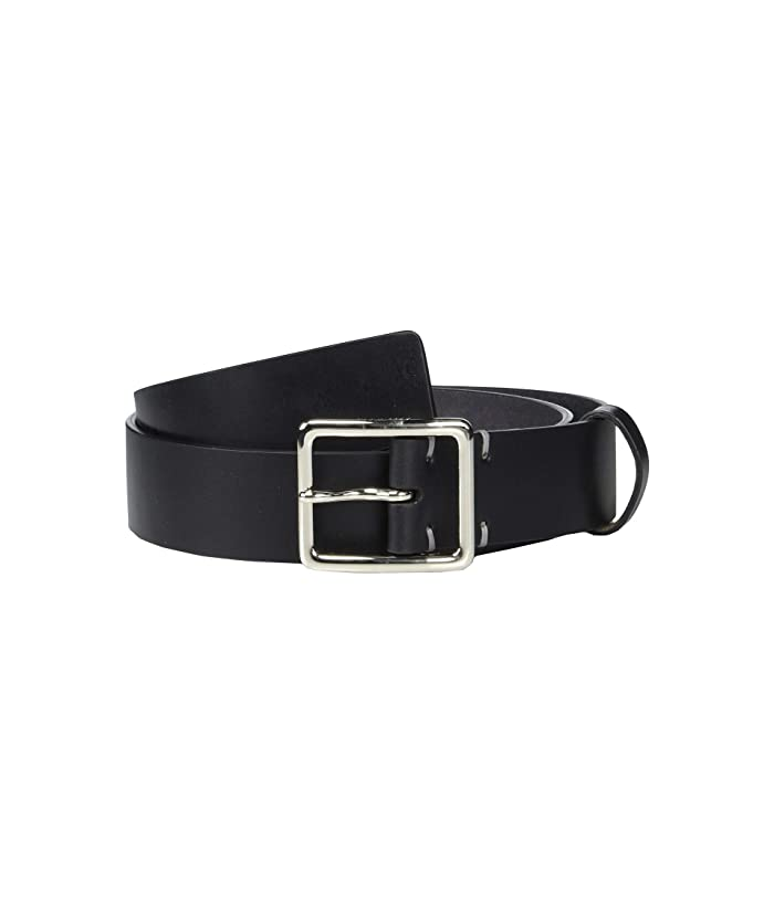 Cole Haan 35 mm Smooth Leather Belt w/ Cut Burnished Edge (Black) Men