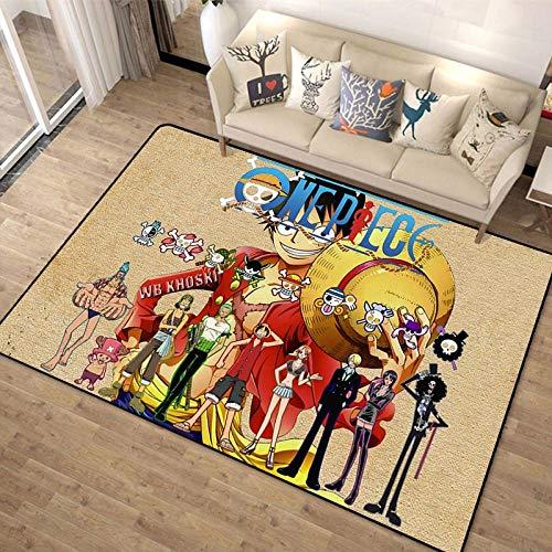 3D Alfombra Personalidad One Piece Anime Alfombras De Personaje Sala De Estar Habitación Habitación Mesita De Noche Colchoneta De Juego para Niños-120X160CM-A_80x120cm