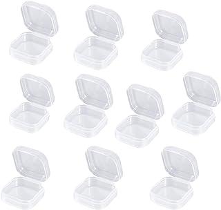 Wohlstand 10pcs Boîte de Stockage de Perles en Plastique Transparent avec boîte en Plastique Transparent pour boîtes de Ra...