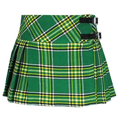 Girls Green Tartan Katie Kilt Skirt Age 1-2