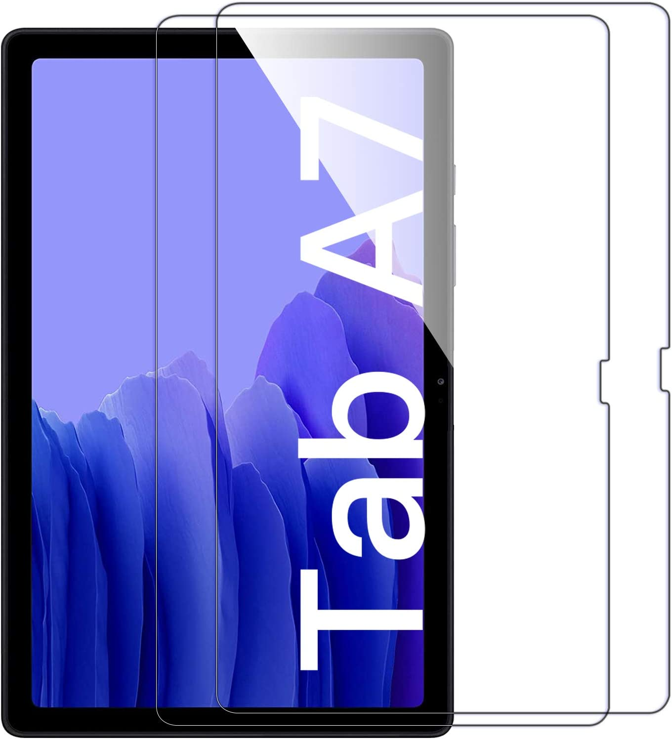 [2 Pack]ZoneFoker Screen Protector for Samsung Galaxy Tab A7 10.4 inch 2020 tablet, [Anti-Scratch][Easy Installation][Bubble Free] Tempered Glass for Galaxy Tab A7 10.4 2020 SM-T500/T505/T507