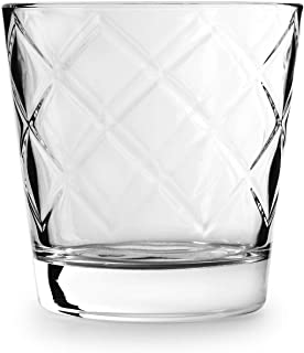 Circleware Arrabella Double Old Fashioned Whiskey Glasses, Set of 4 Kitchen Drinking..