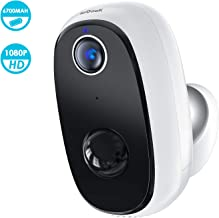 $71 » Wireless Outdoor Security Camera, Rechargeable Battery Powered, WiFi Home Indoor Surveillance with 1080p, PIR Motion Detection, Night Vision, 2-Way Audio, Cloud & MicroSD Card Storage, Smartphone App
