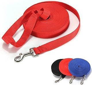 犬用リード ロングリード 犬用引きひも 犬 トレーニング 用 ロング リード ストレス 防止 小型 中型 大型 犬 に ペット 訓練 レッド 10m