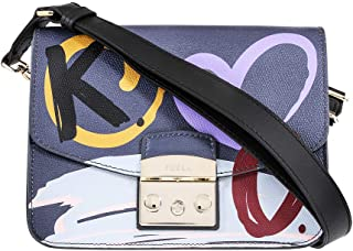 Furla Metropolis Message Ladies Small Multicolored Leather Crossbody 977986