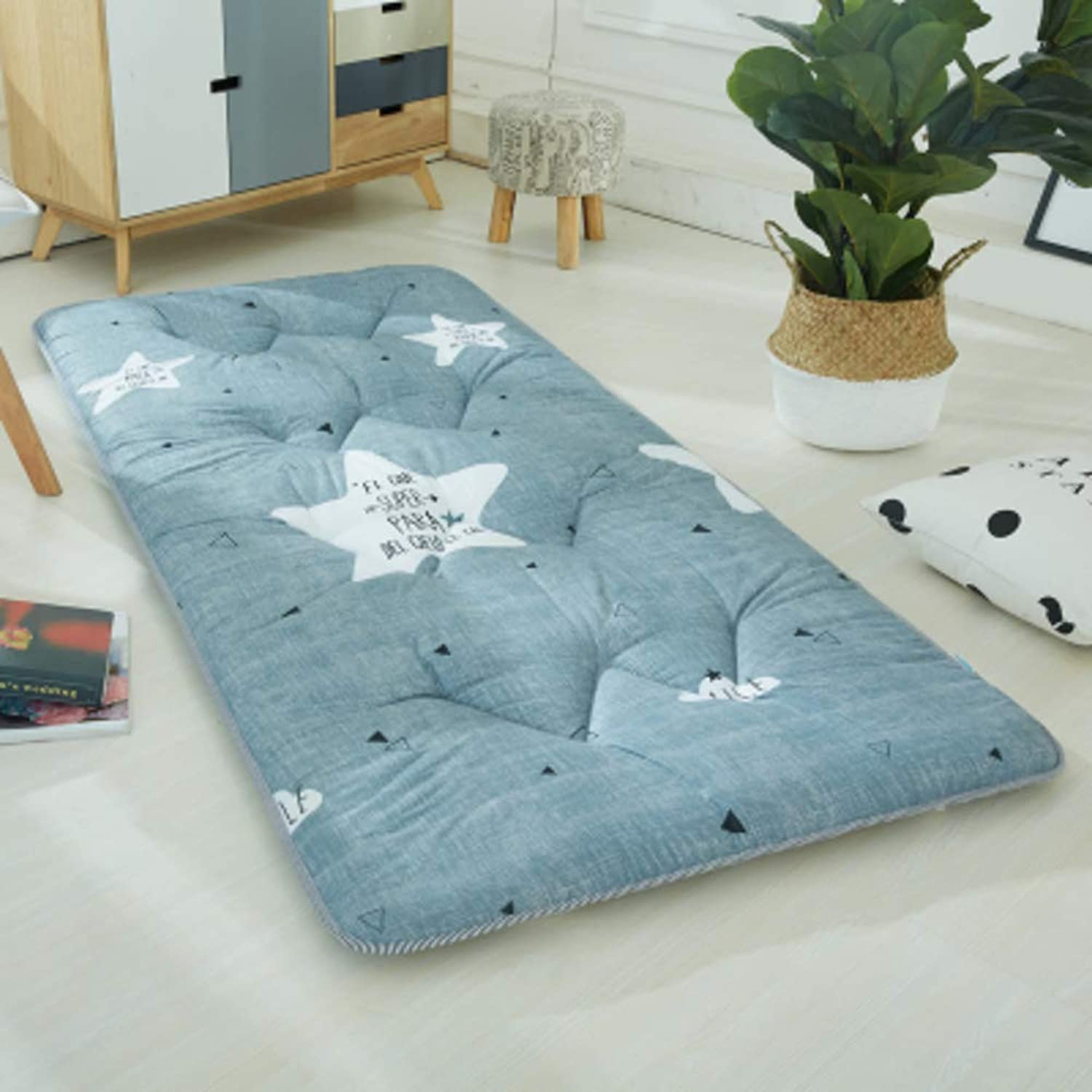Quilted Fitted Floor Mattress Futon Tatami Mat, Anti-Slip Folding Bed Sleeping Pad Nap for Living Room Dormitory-n 80x190cm(31x75inch)