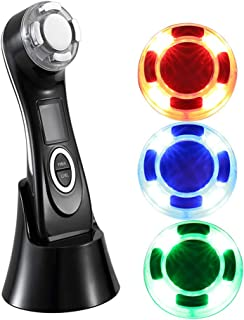 アップグレード超音波ファットバーナーボディ痩身マッサージ、LEDの美の器械、減量のため持ち上げて締め付けるフェイシャルセラピー,Black