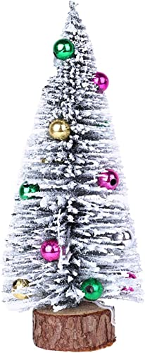 wholesale RiamxwR Miniature Pine Trees with Small Bell outlet online sale Tabletop Christmas Trees popular for Miniature Scenes, DIY Room Christmas Decor Models (Style C) sale