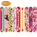 Valentines Day Gifts for Kids 45PCS Valentine's Day Magnetic Bookmarks 9 Cute Designs Valentines Cards for Classroom Valentine Favors