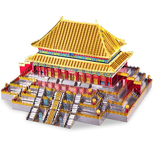 Piececool 3D Metal Model Kits-Hall of Supreme Harmony-Famous Architecture Model Kits-DIY 3D Metal...