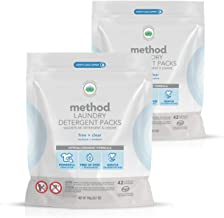 Method Laundry Detergent Packs, Free + Clear, 24.7 Fl Oz (2 Count)
