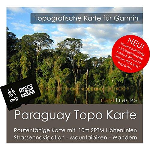 Paraguay Garmin Karte TOPO 4 GB microSD. Topografische GPS Freizeitkarte für Fahrrad Wandern Touren Trekking Geocaching & Outdoor. Navigationsgeräte, PC & MAC