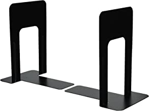 INDIAN DECOR Bookends, 9 Inches, Non-Skid Base, Black, Pair DL.8879