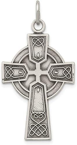 Argent sterling antique Irish Pendentif Croix
