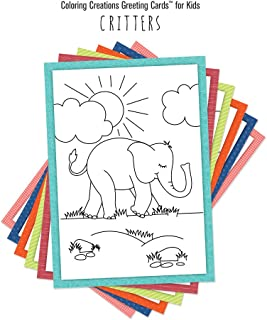 Coloring Creations Greeting Cards™ for Kids - Critters: With Scripture