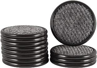 SoftTouch 4292895N Porta-copos redondos para proteger pisos de madeira, 3,8 cm, pacote com 12, marrom/cinza, 12 peças