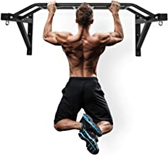 """Wall Mount Pull-Up Bar - 48"""" Multi-Grip Chin-Up Station with Hangers for Punching Bags, Power Ropes for Home Gym Strength ..."""