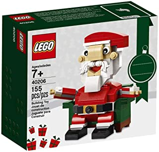 LEGO Bricks & More Santa, with Movable Arms and Buildable Chair (7 Years and up) 40206, Building Kit - (Multicolor)