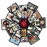 VEESUN Caja de Regalo Creative Explosion Box 6 Caras, DIY Álbum de Fotos Scrapbook Caja, San Valentin Navidad Regalos Originals Artesanales Mujer Hombre Novio Niña Niños, Negro
