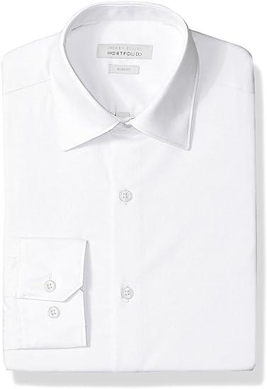 Perry Ellis - Camisa de vestir para hombre, ajuste entallado ...