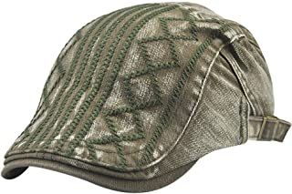 c15e371b469 Vovomay Men s Cotton Flat Ivy Gatsby Newsboy Driving Hat Cap- Vintage  Ajustable Gatsby Peaked Cap