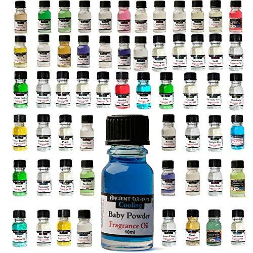 Duftöle im Set, Duftvarianten Brombeere, Erdbeere, Himbeere, Ackerbeere, Heidelbeere, geeignet für die Aromatherapie, zum Kerzenziehen, für Duftbrenner, Bäder und Massagen, 5 Fläschchen zu je 10 ml