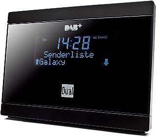 Dual DAB 2 A digitale radio-adapter met afstandsbediening (LCD-display, DAB(+)/FM-tuner, alarmfunctie), zwart