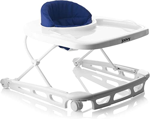 Joovy Spoon Walker, Adjustable Baby Walker, Activity Center, Blueberry
