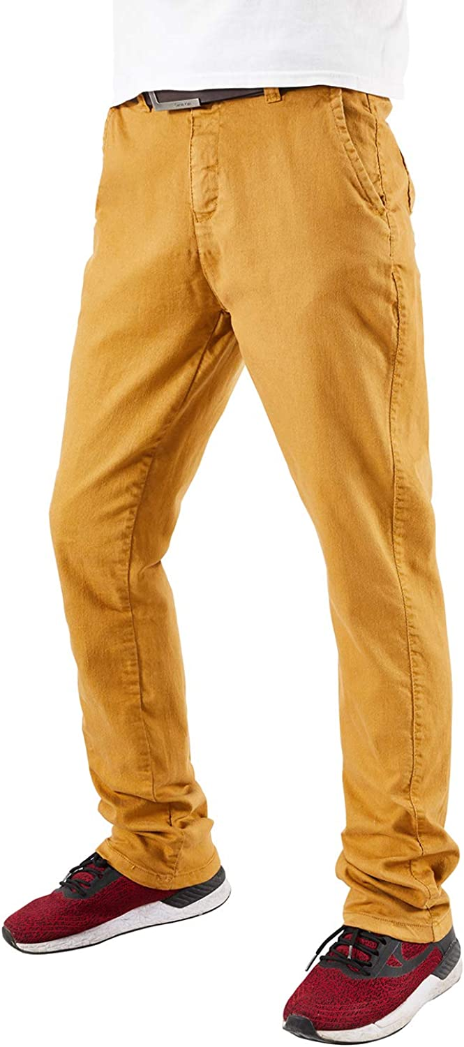 VEDOMS Mens Casual Cotton Stretch Slim Fit Pants Tall Size Cargo Pants for Men
