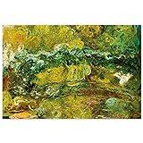JUNIWORDS Poster, Claude Monet, Die japanische Brücke (Le Pont Japonais), 44 x 30 cm