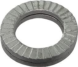 100x Arandelas de freno con dientes exterior M4 Ф8mm acero galvanizado
