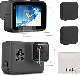 アイトランク iTrunk Gopro Hero7 Black Hero6 Hero5 (2018) に適用 9H強化ガラスフィルムセット 保護 フィルム スクリーン レンズフィルム レンズカバー キャップ 2枚セット カメラ アクセサリー 気泡ゼロ/貼付け簡単/防水防油