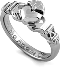 Sterling Silver Claddagh Promise Ring PROMISE1. Made in IRELAND.