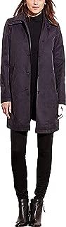 LAUREN RALPH LAUREN Hooded Single-Breasted A-Line Raincoat, Blue
