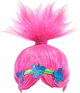 Pink Poppy Costume Wigs Cosplay Hair Halloween Party Accessories for Women and Girls (8195)