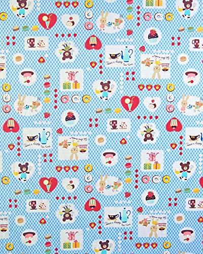 お昼寝布団カバー 120×135 cm 120 135 サイズオーダー 保育園 綿 ホック 柄番200ブルー