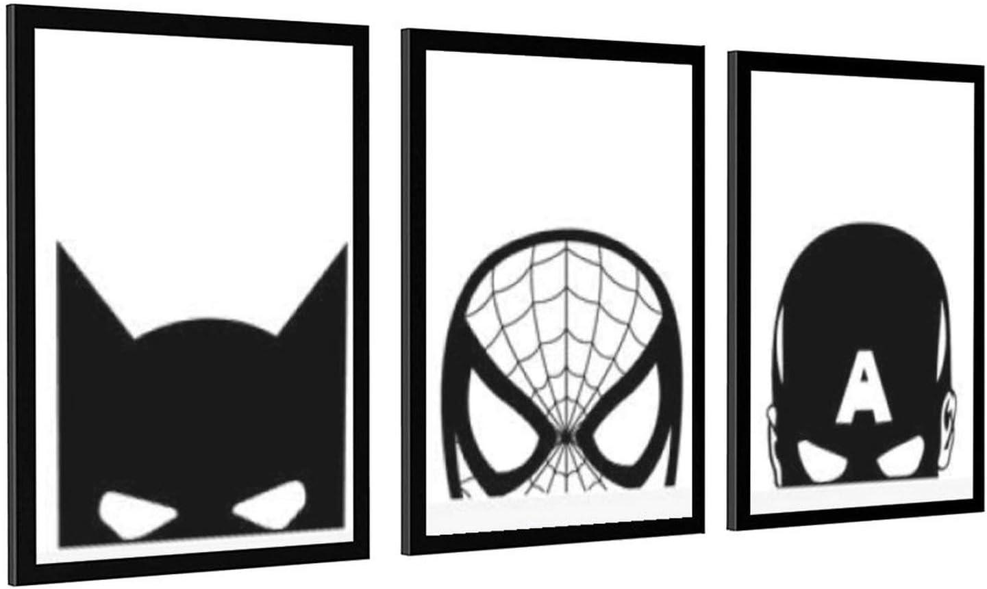 Superheroes Cartoon ランキングTOP5 人気ブランド Print Black White Painting Canvas Hero Super