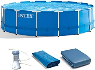 Intex Metal Frame Pool Set, 15-Feet by 48-Inch