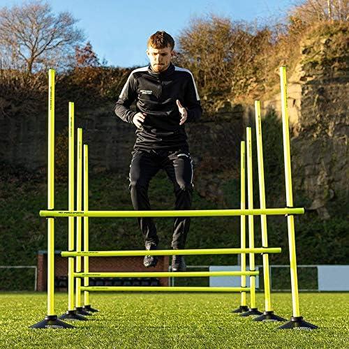 5X Adjustable Speed  Hurdles Football  Dog Training Equipment Orange