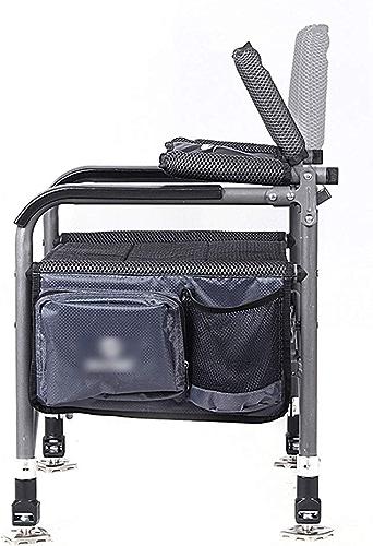 Chaise De Pêche Pliante Chaise Extérieure Multi-usages Chaise De Pêche Calmar Balayable à Séchage Rapide Tissu Maille Télescopique Tube De Jambe Charge 120kg (Couleur   noir, Taille   C)