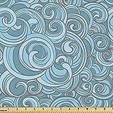 Lunarable Abstrakter Stoff von The Yard, Ocean Sea Waves