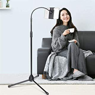 Sponsored Ad – Padom adjustable phone tripod floor stand/stand with bendable gooseneck for phone and iPad/tablet 4.7 inche...