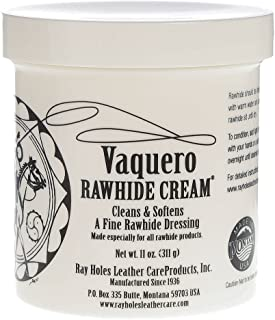 Ray Holes Leather Care Products Vaquero Rawhide Cream, Ideal For Conditioning And Water-Proofing Rawhide and Other Fine and Exotic Leathers, Pint Container