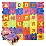 CCLIFE 36 Piezas Alfombra Puzzle para Niños Goma Espuma Suave Eva alfombras Alfombra Puzzle para Niños Bebe Infantil,...