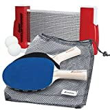Franklin Sports Table Tennis To-Go – Complete Portable Ping-Pong Set – Includes Ping-Pong Paddles, Balls,...
