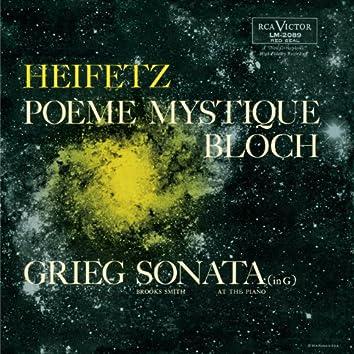 """Bloch: Sonata No. 2 """"Poème mystique"""", Grieg: Sonata No. 2, Op. 13, in G"""