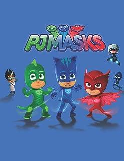 PJ Masks Figures: Blank Lined Superhero Gift Journal/Diary/Notebook for Disney Comics & Adventure Fans